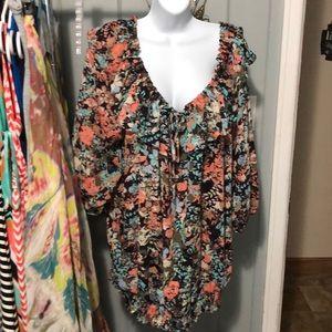 Lane Bryant floral blouse size 22/24